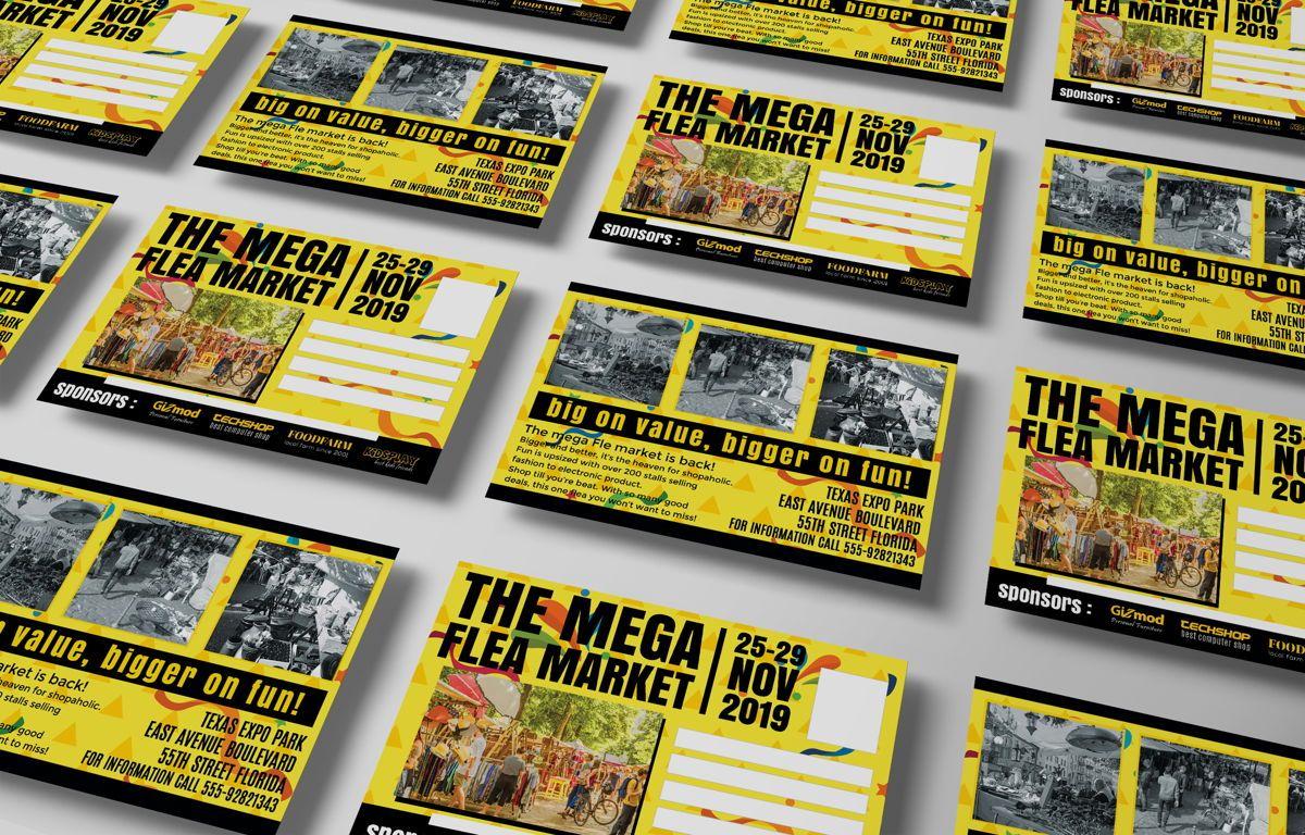 Flea Market PostCard, Slide 7, 08706, Business — PoweredTemplate.com