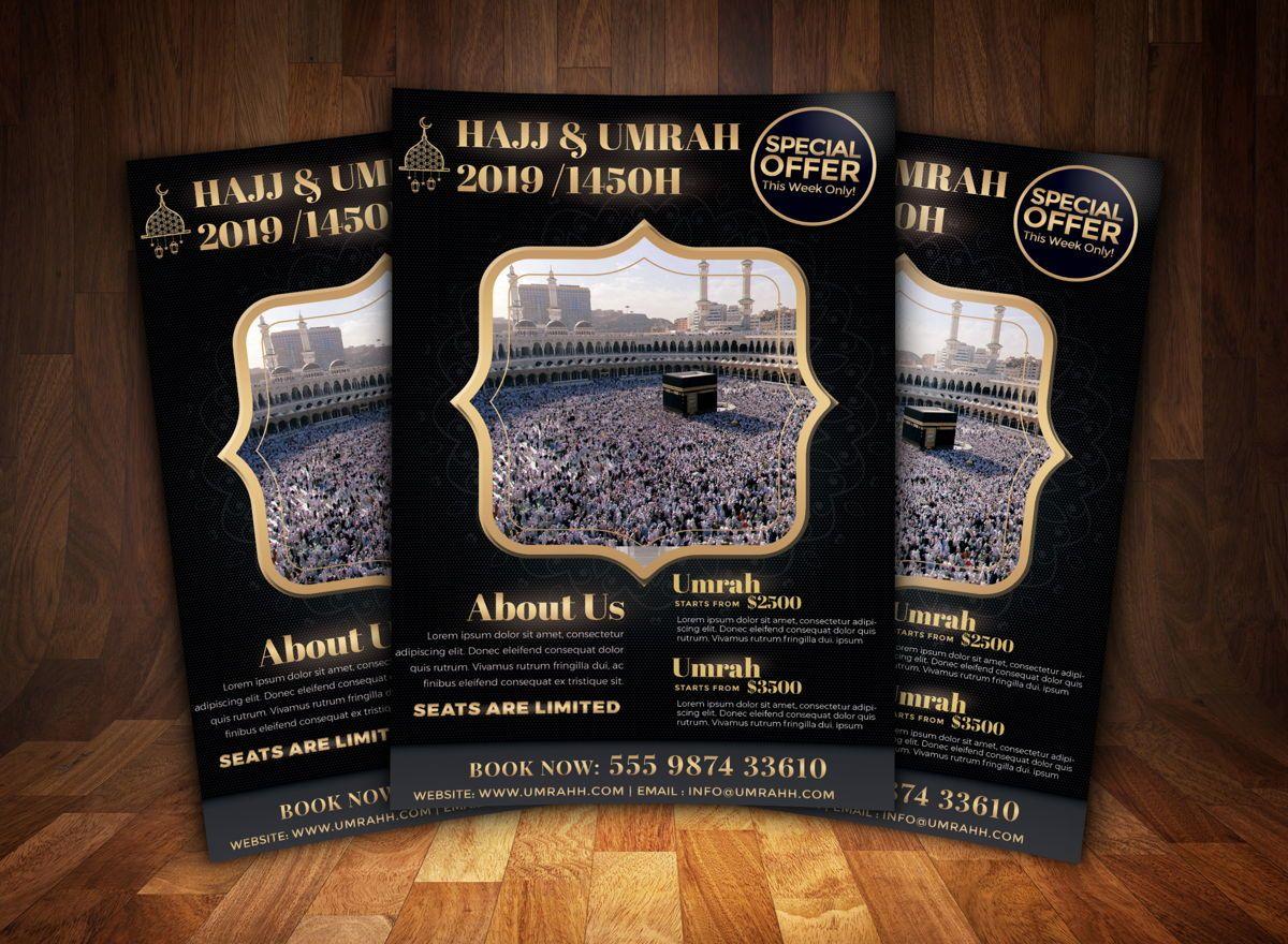 Hajj and Umrah Flyer Template, Slide 2, 08707, Religious/Spiritual — PoweredTemplate.com