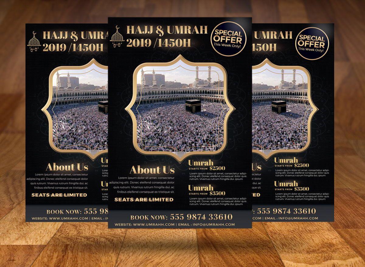 Hajj and Umrah Flyer Template, Slide 3, 08707, Religious/Spiritual — PoweredTemplate.com