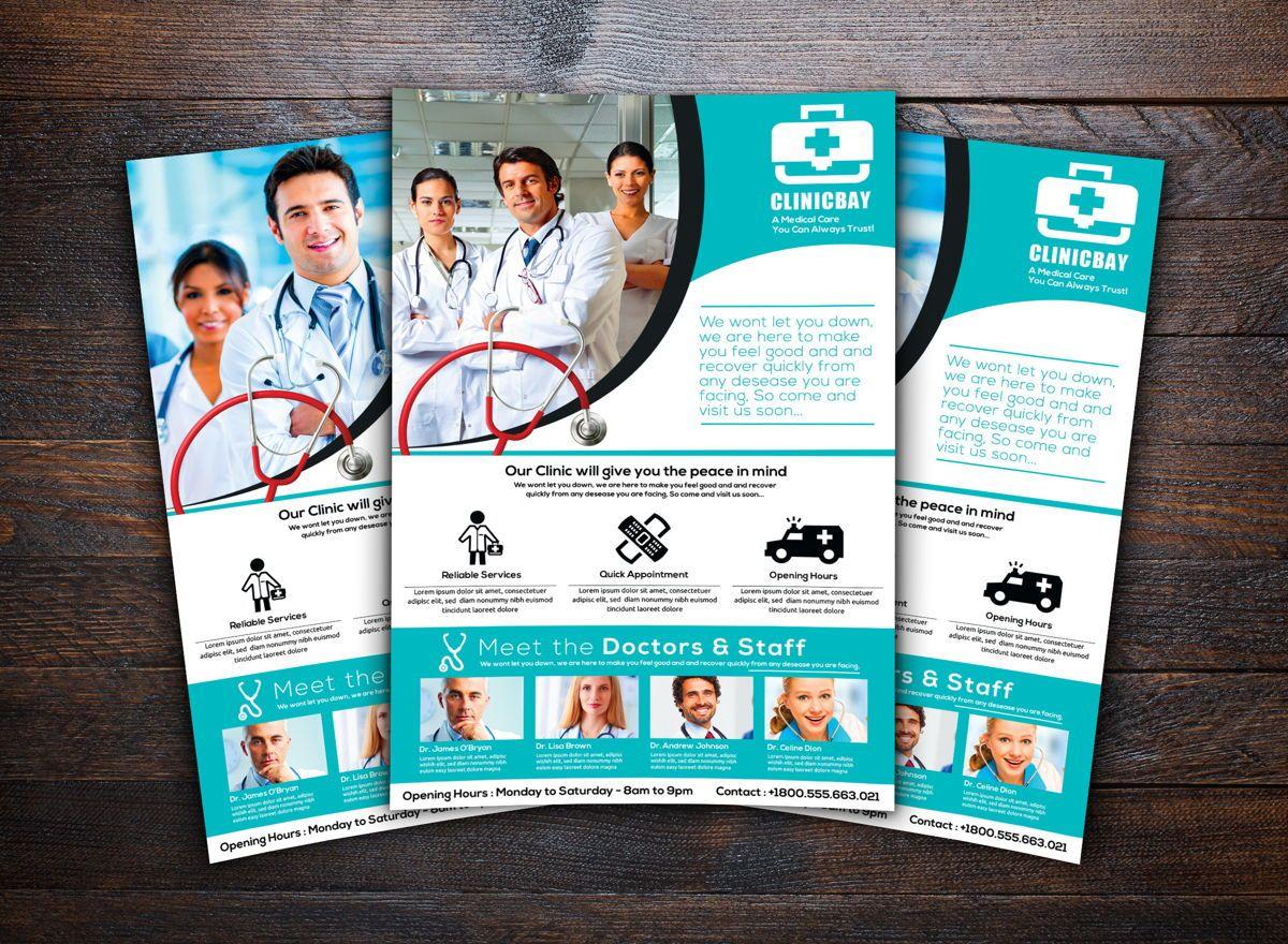 Health Clinic Flyer Template, Slide 2, 08708, Medical — PoweredTemplate.com