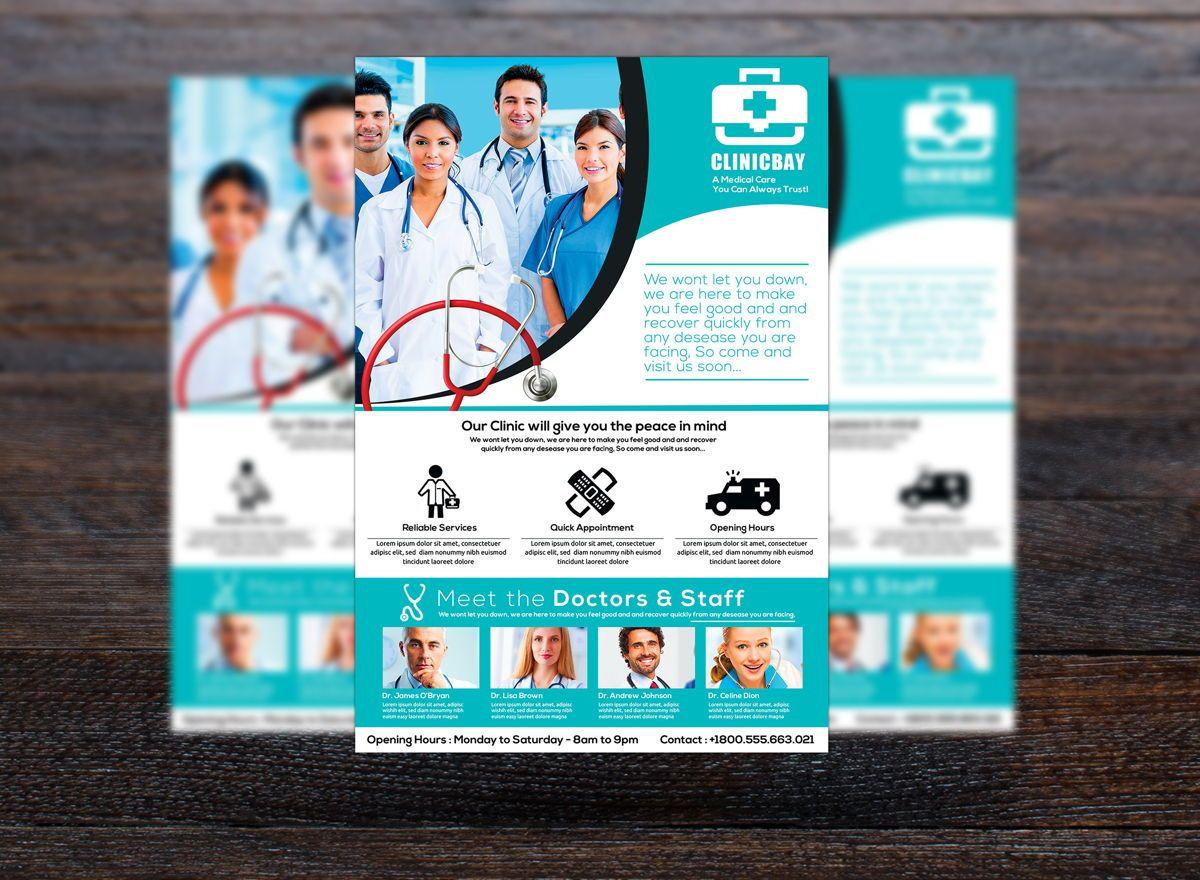 Health Clinic Flyer Template, Slide 3, 08708, Medical — PoweredTemplate.com