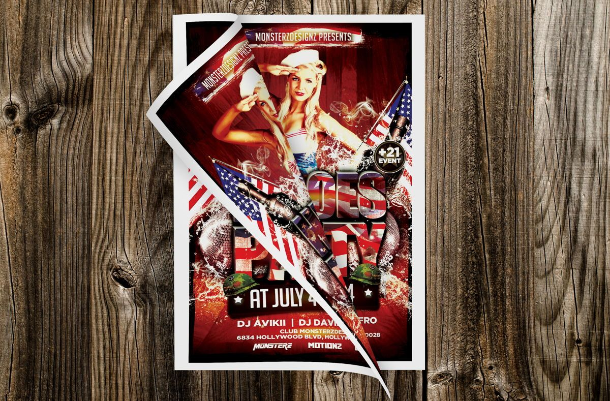 Heroes Party Flyer Template, Slide 2, 08709, Art & Entertainment — PoweredTemplate.com