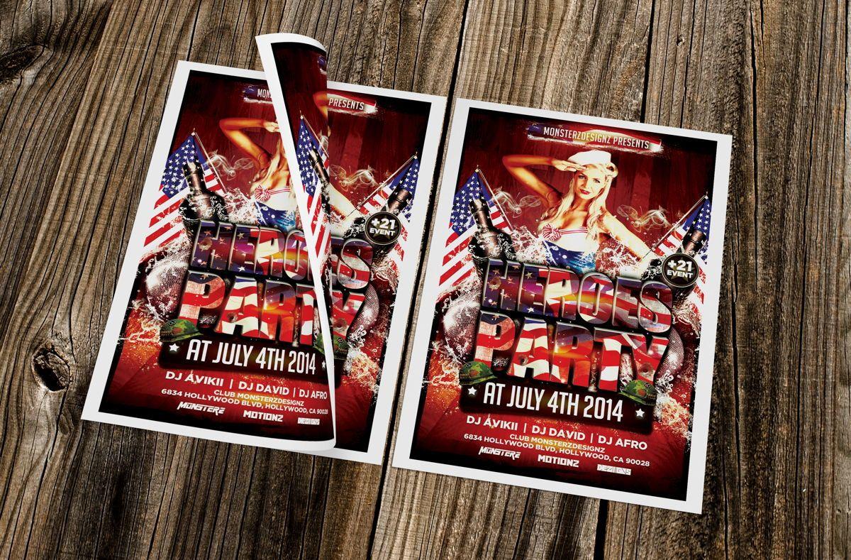 Heroes Party Flyer Template, Slide 3, 08709, Art & Entertainment — PoweredTemplate.com