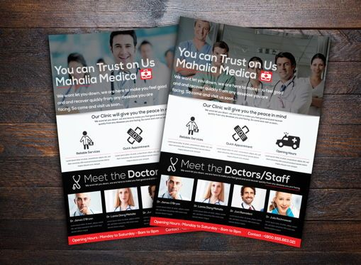 Medical: Medica Health Center Flyer Template #08717