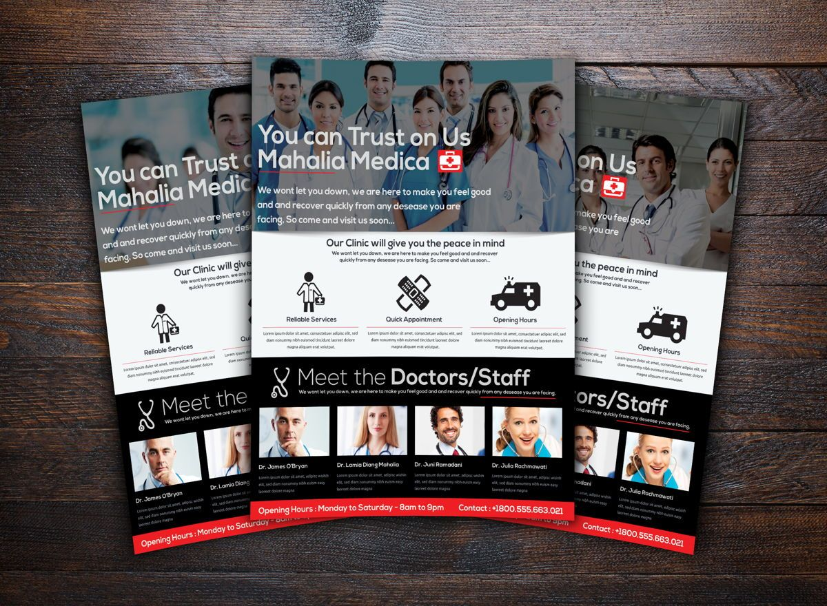 Medica Health Center Flyer Template, Slide 2, 08717, Medical — PoweredTemplate.com