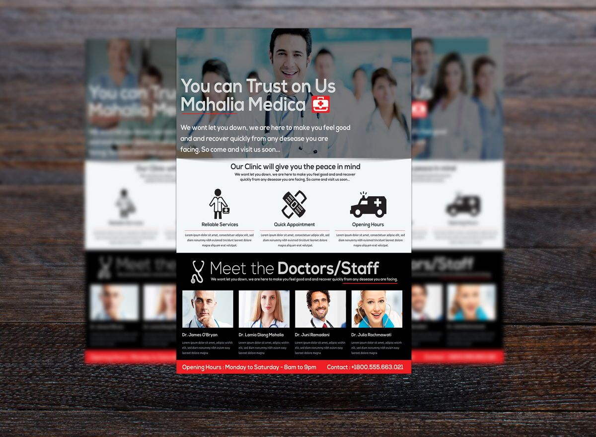 Medica Health Center Flyer Template, Slide 3, 08717, Medical — PoweredTemplate.com
