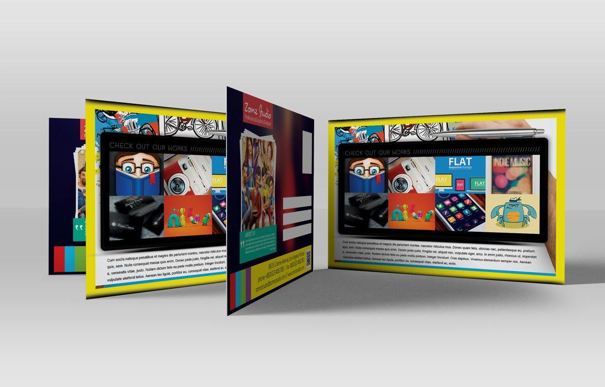 Graphics Design Studio PostCard, Slide 2, 08718, Business — PoweredTemplate.com