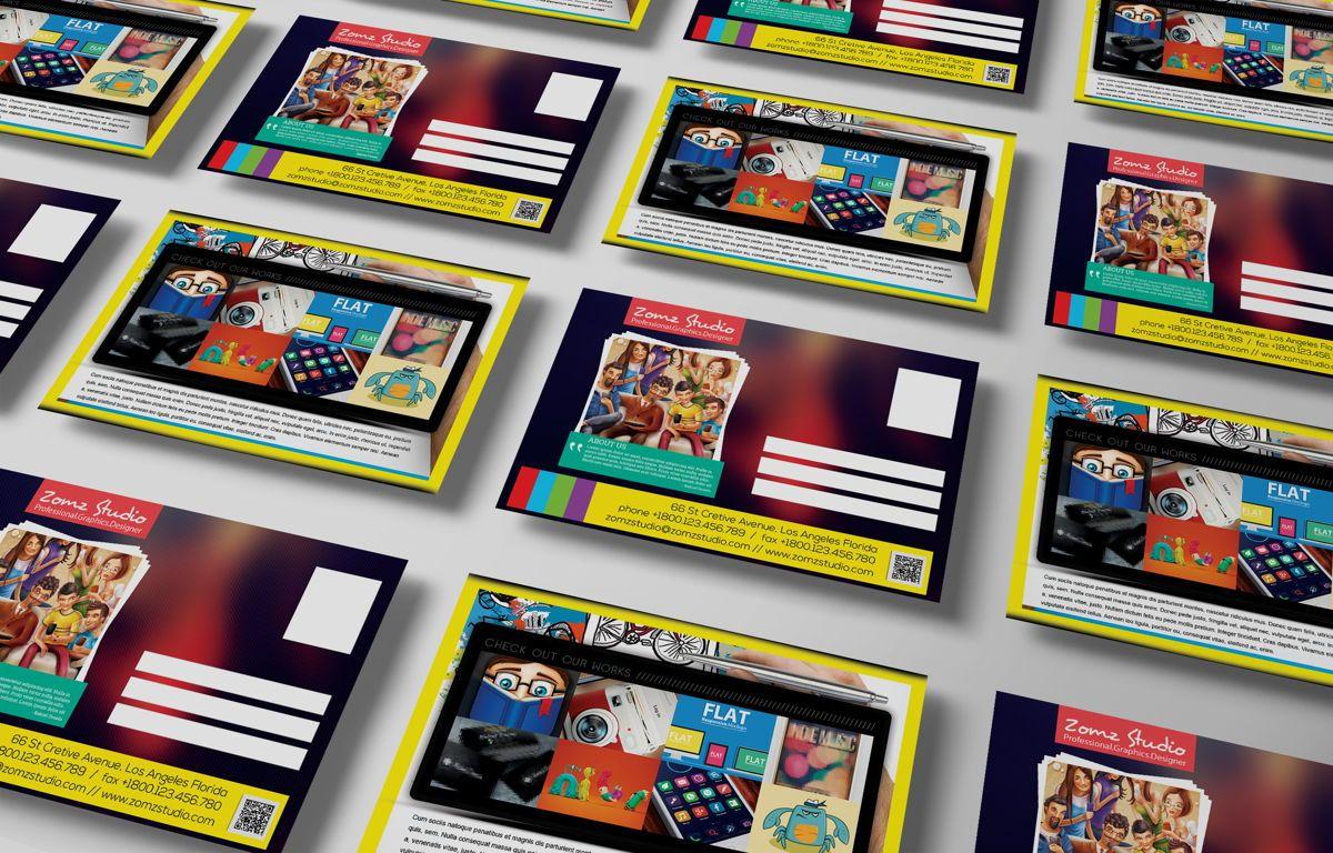 Graphics Design Studio PostCard, Slide 3, 08718, Business — PoweredTemplate.com