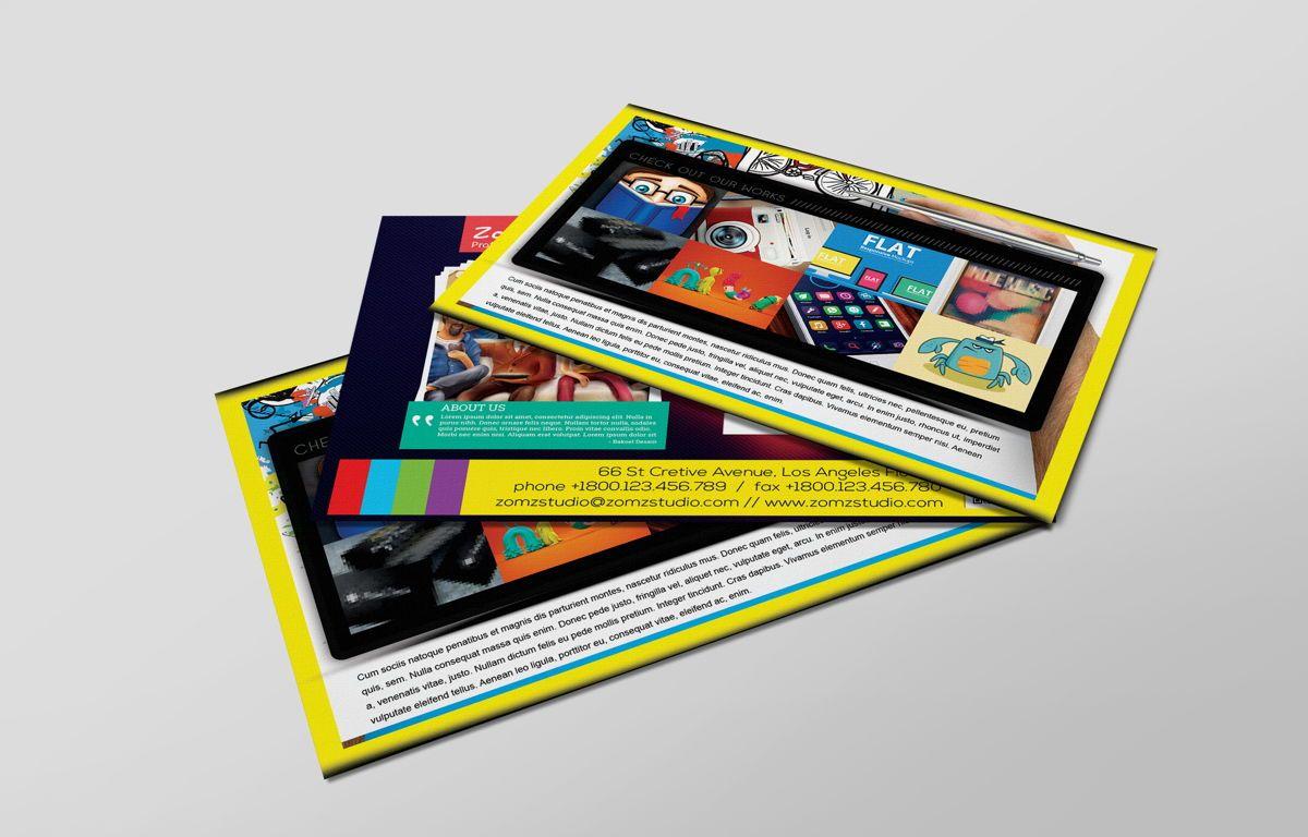 Graphics Design Studio PostCard, Slide 4, 08718, Business — PoweredTemplate.com