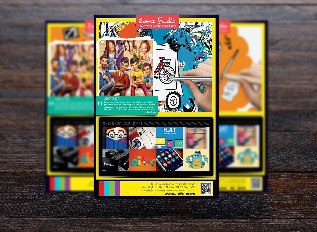 Graphics Design Studio Promotion Flyer Template, Slide 3, 08719, Business — PoweredTemplate.com