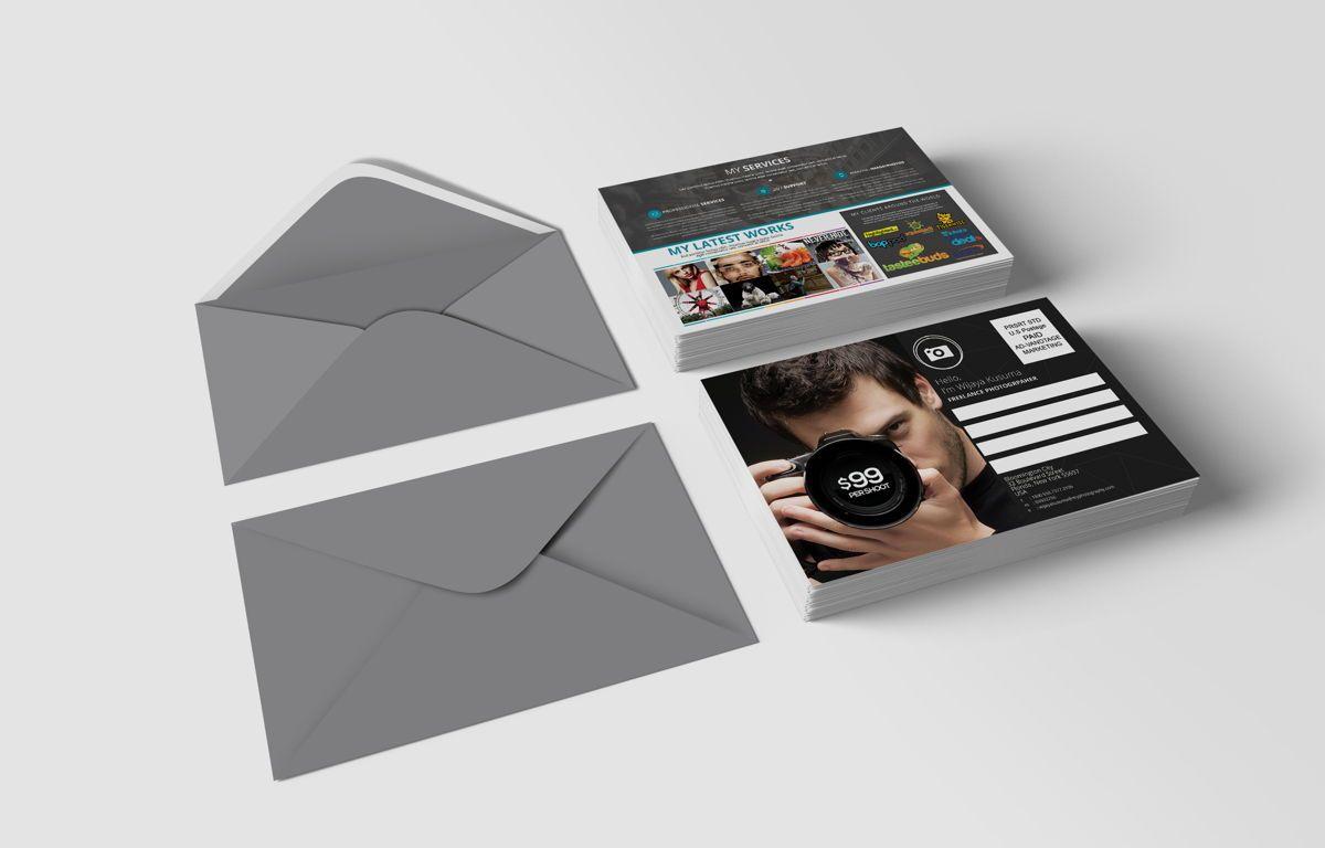 Freelance Photographer Promotion PostCard, Diapositive 2, 08720, Business — PoweredTemplate.com