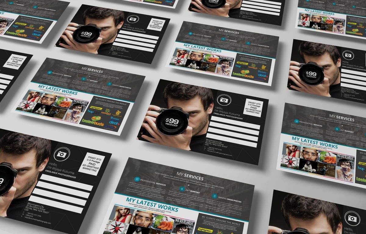 Freelance Photographer Promotion PostCard, Diapositive 5, 08720, Business — PoweredTemplate.com