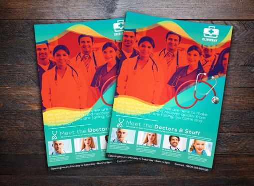 Medical: Health Clinic Flyer Template #08722