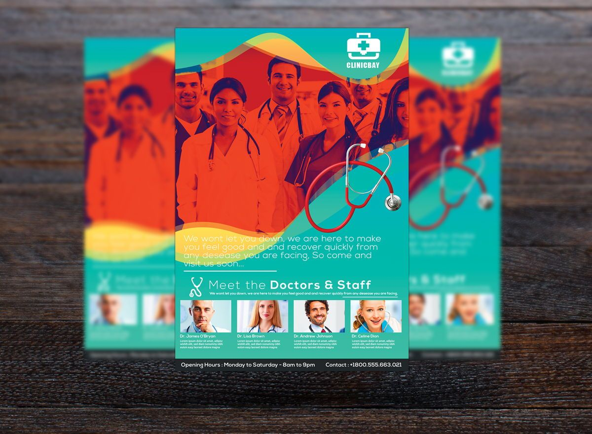 Health Clinic Flyer Template, Slide 3, 08722, Medical — PoweredTemplate.com