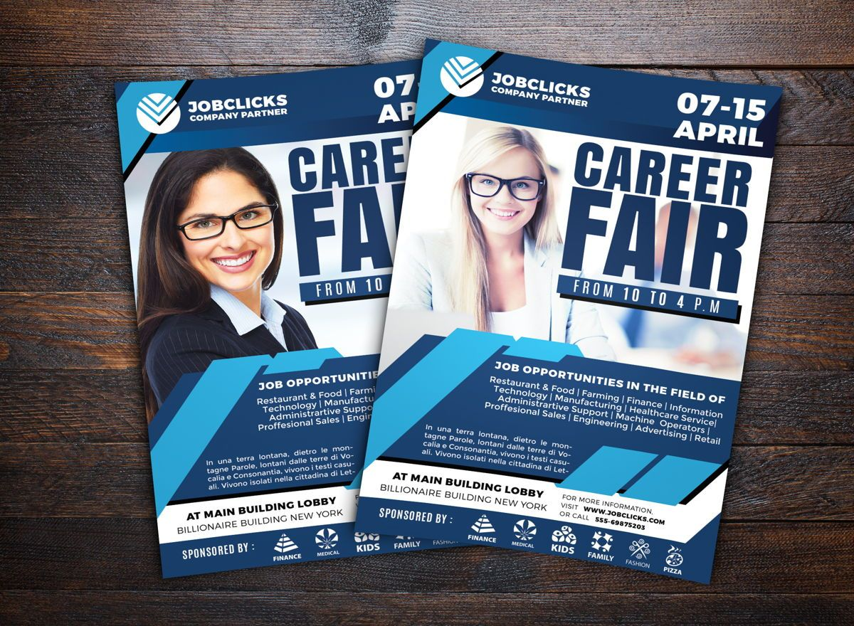 Job Career Flyer Template, 08723, Carrière / Industrie — PoweredTemplate.com