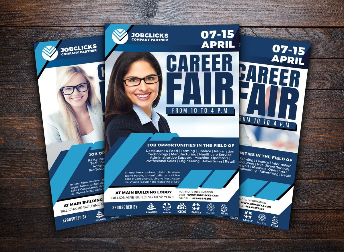 Job Career Flyer Template, Slide 2, 08723, Careers/Industry — PoweredTemplate.com
