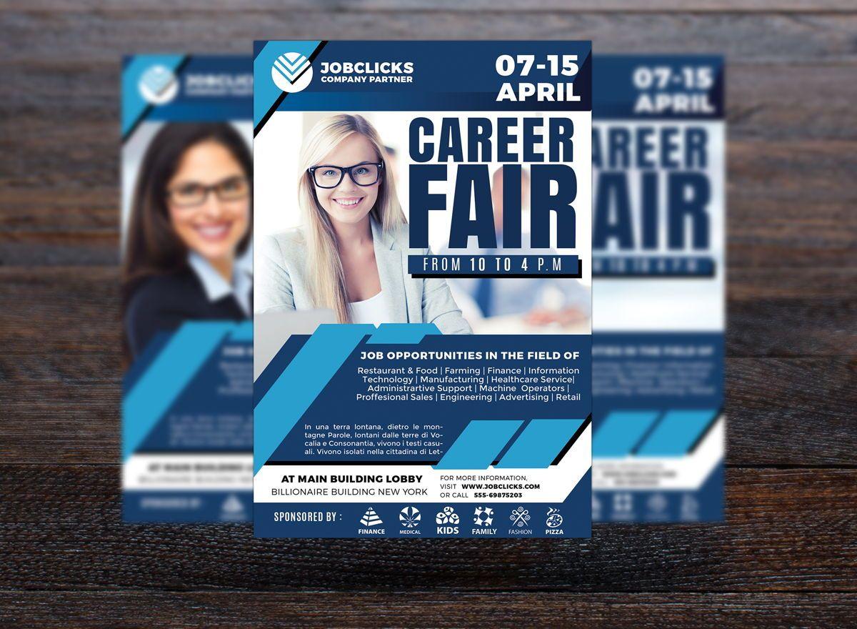 Job Career Flyer Template, Diapositive 3, 08723, Carrière / Industrie — PoweredTemplate.com