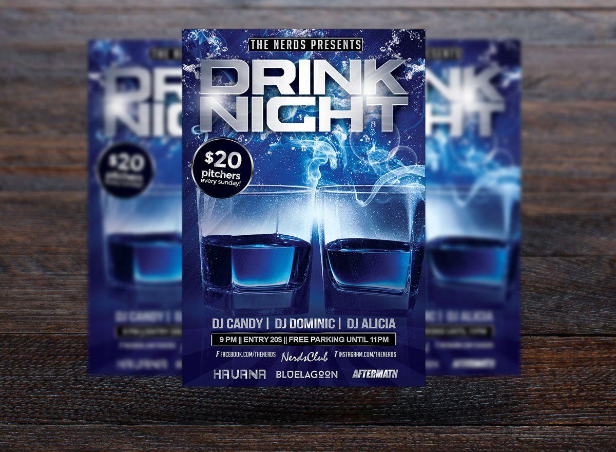 Drink Night Party Flyer Template, Slide 3, 08724, Art & Entertainment — PoweredTemplate.com