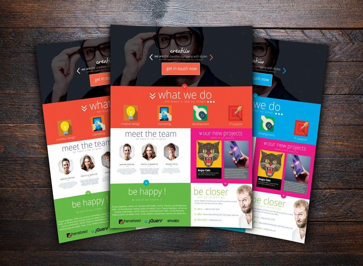 Creative Corporate Service Flyer Template, Slide 2, 08725, Business — PoweredTemplate.com