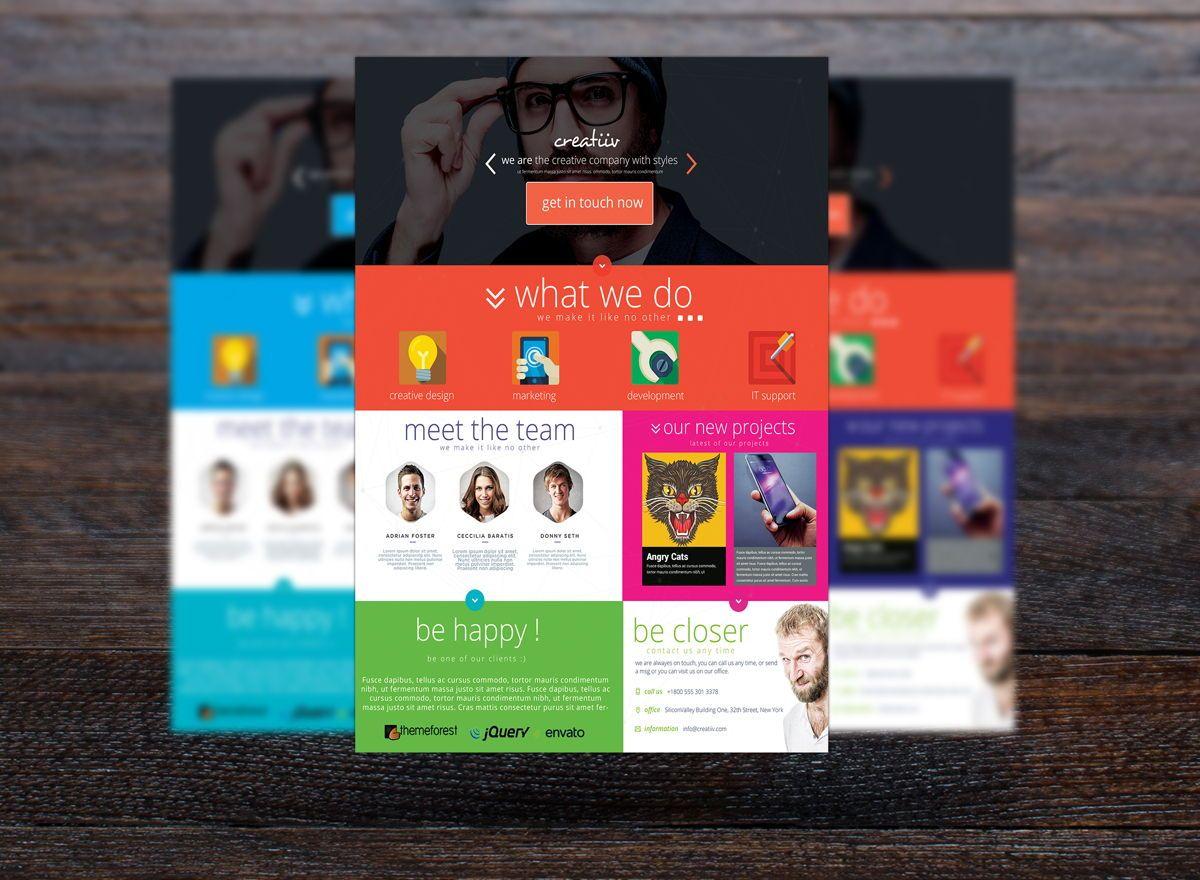 Creative Corporate Service Flyer Template, Slide 3, 08725, Business — PoweredTemplate.com