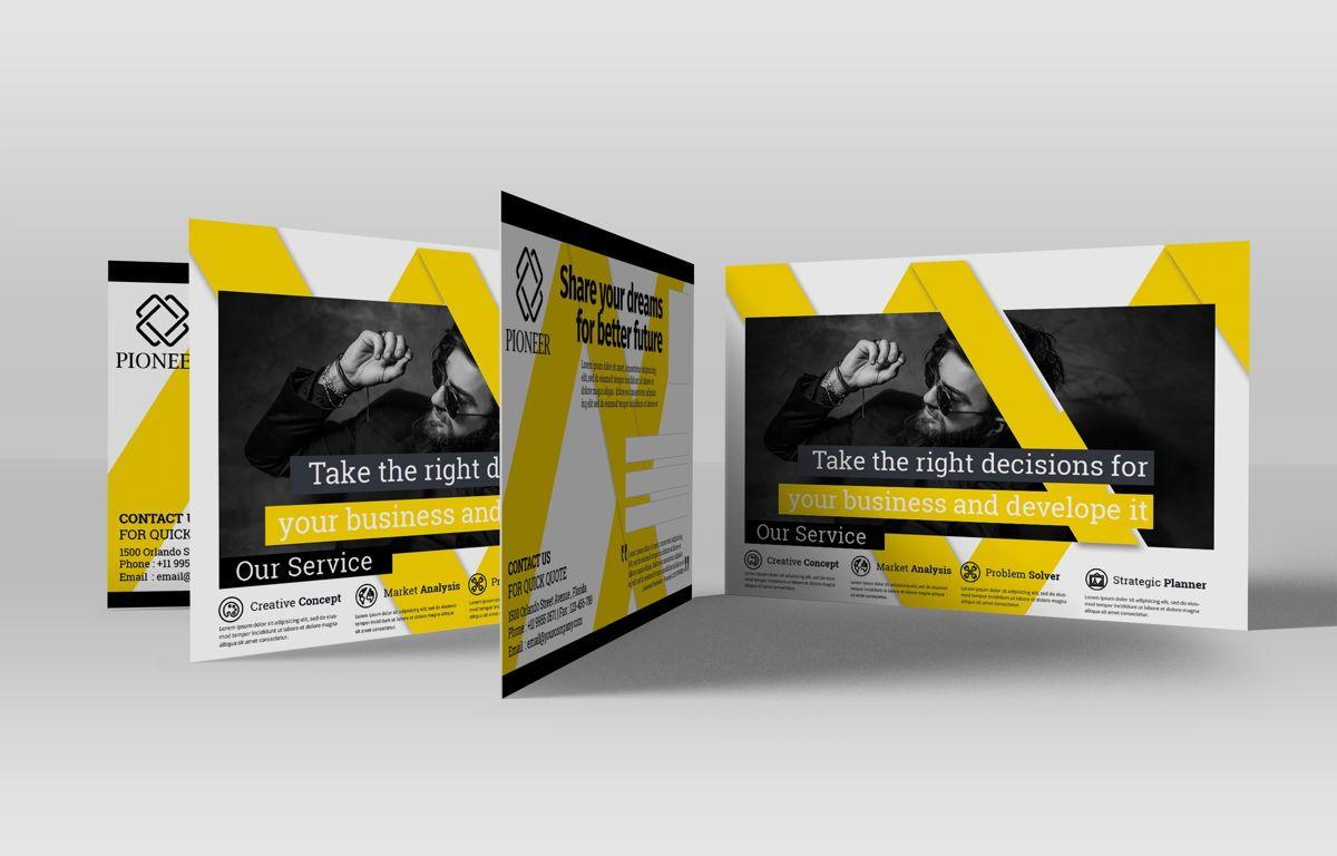 Corporate Promotion PostCard, 08727, Business — PoweredTemplate.com