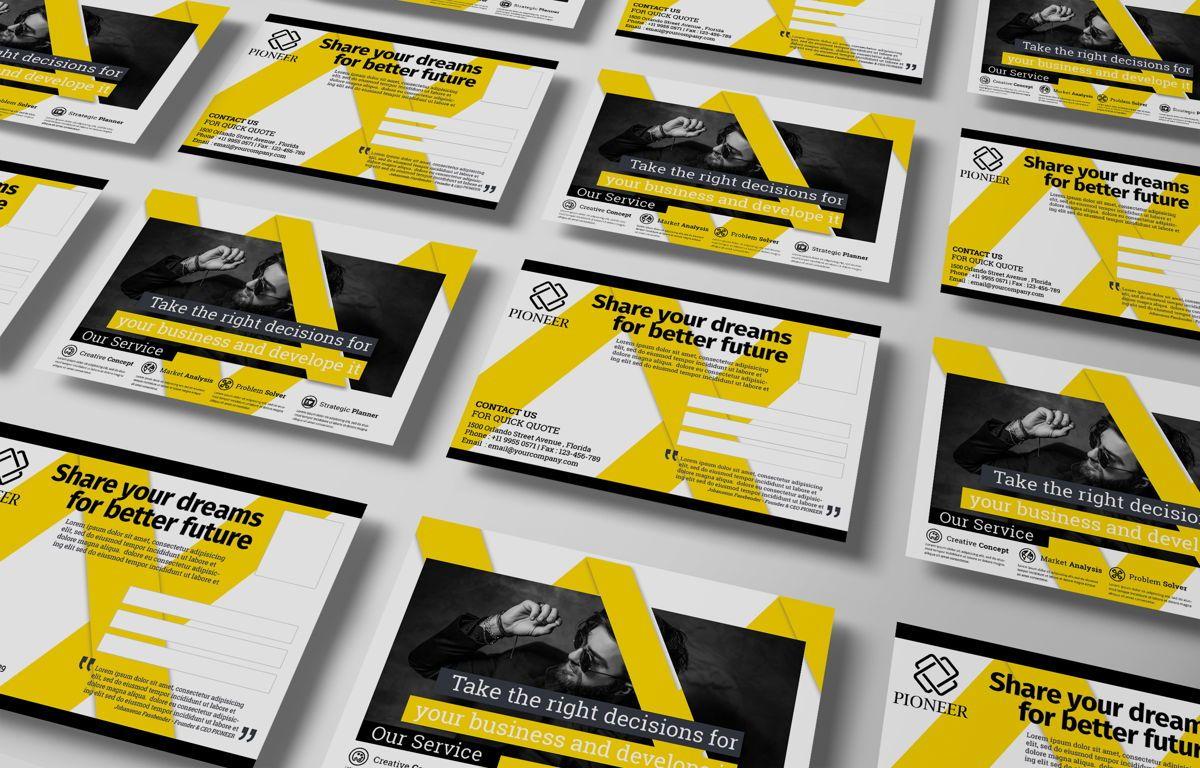 Corporate Promotion PostCard, Diapositive 2, 08727, Business — PoweredTemplate.com