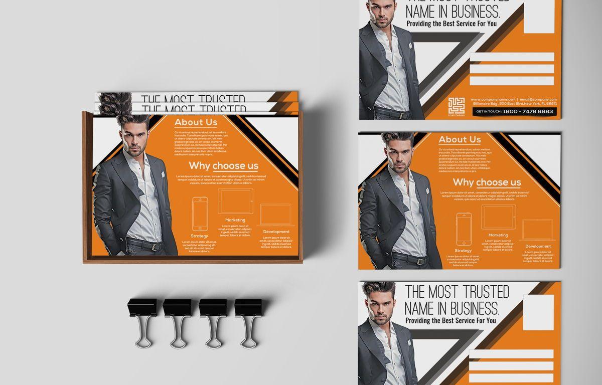 Corporate Promotion PostCard, 08728, Business — PoweredTemplate.com