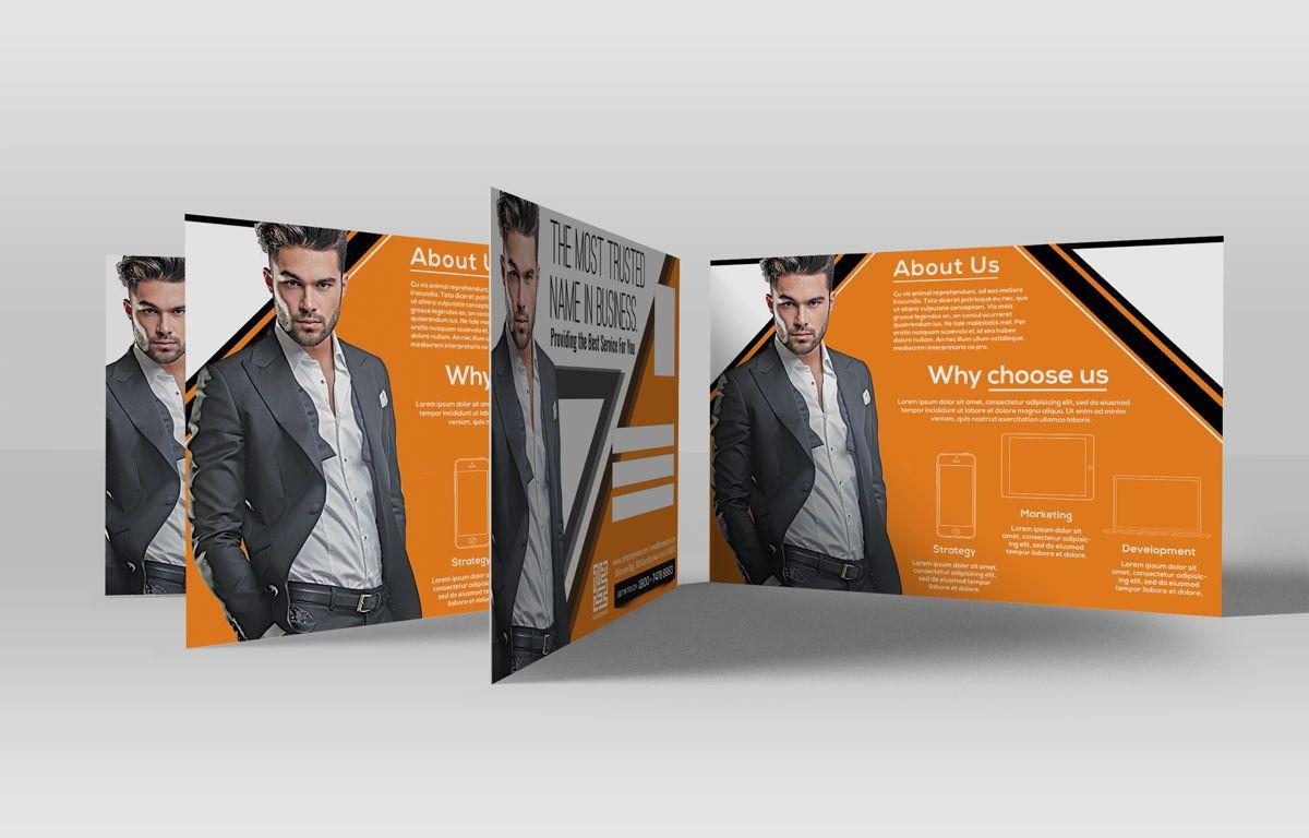 Corporate Promotion PostCard, Diapositive 2, 08728, Business — PoweredTemplate.com