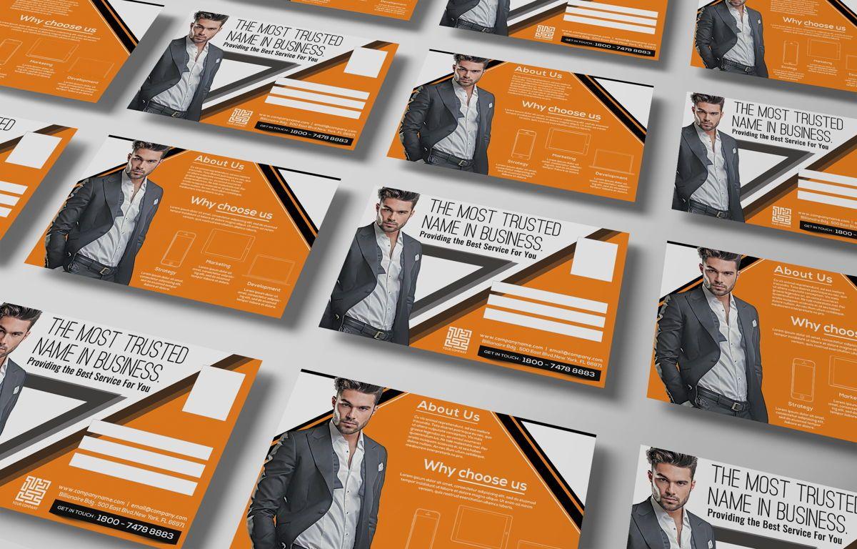 Corporate Promotion PostCard, Diapositive 3, 08728, Business — PoweredTemplate.com