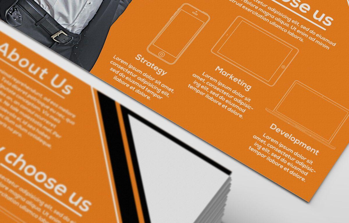 Corporate Promotion PostCard, Diapositive 5, 08728, Business — PoweredTemplate.com