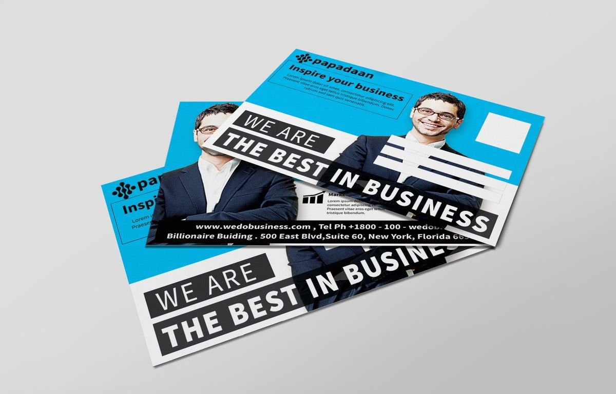 Corporate Promotion PostCard, 08729, Business — PoweredTemplate.com