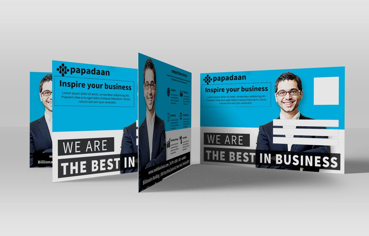 Corporate Promotion PostCard, Slide 2, 08729, Business — PoweredTemplate.com