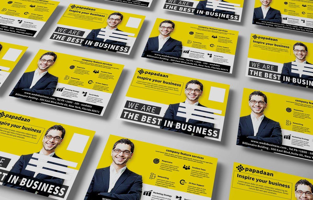 Corporate Promotion PostCard, Slide 4, 08729, Business — PoweredTemplate.com