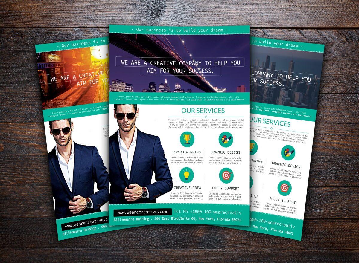 Corporate Flyer Template, Slide 2, 08730, Business — PoweredTemplate.com