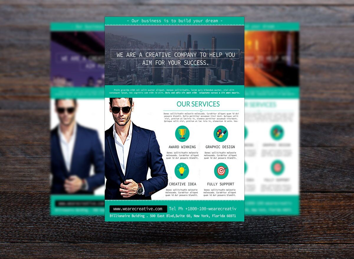 Corporate Flyer Template, Slide 3, 08730, Business — PoweredTemplate.com