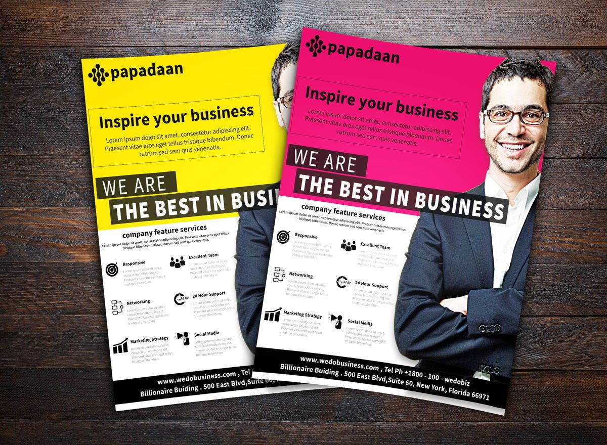 Corporate Flyer Template, 08731, Business — PoweredTemplate.com