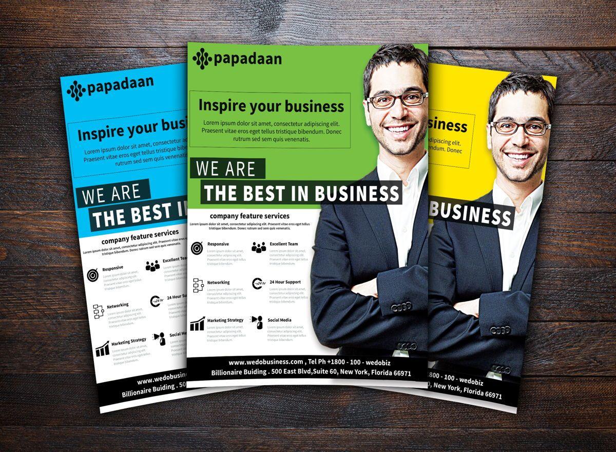 Corporate Flyer Template, Diapositive 2, 08731, Business — PoweredTemplate.com
