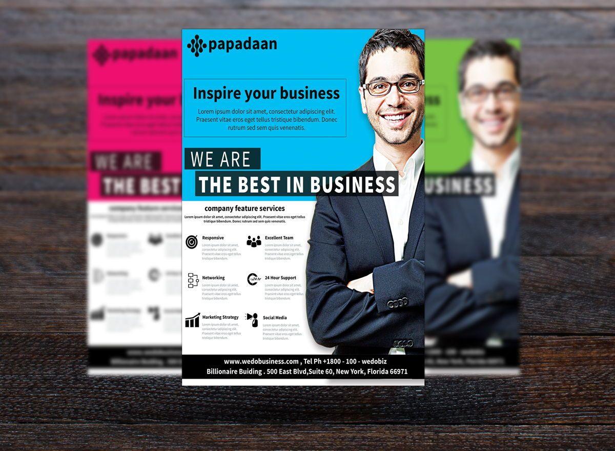 Corporate Flyer Template, Diapositive 3, 08731, Business — PoweredTemplate.com