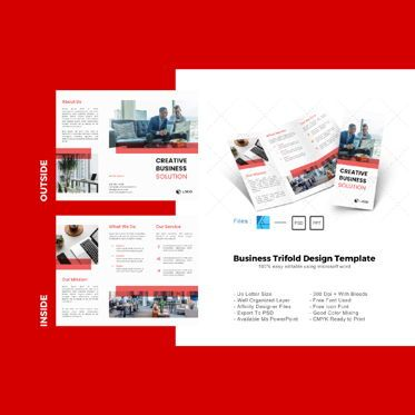 Business: Multipurpose creative business solution trifold brochure design template #08733