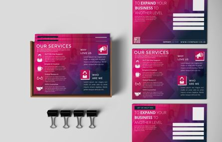 Business: Company PostCard Template #08737