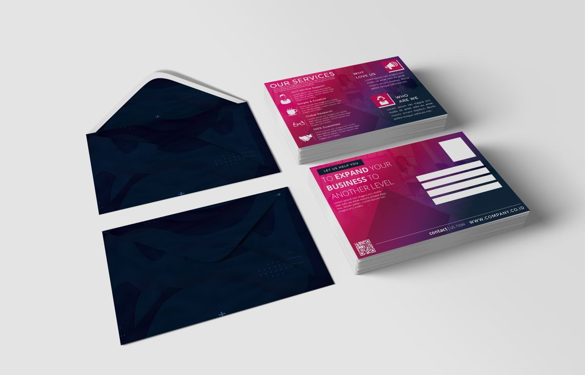 Company PostCard Template, Slide 2, 08737, Business — PoweredTemplate.com