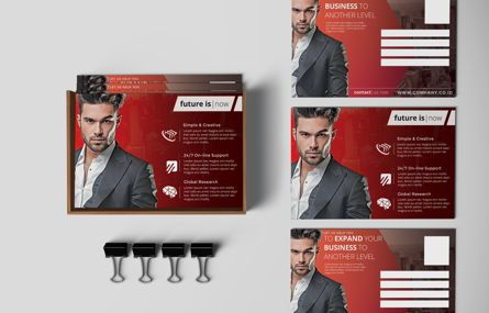 Business: Company PostCard Template #08738