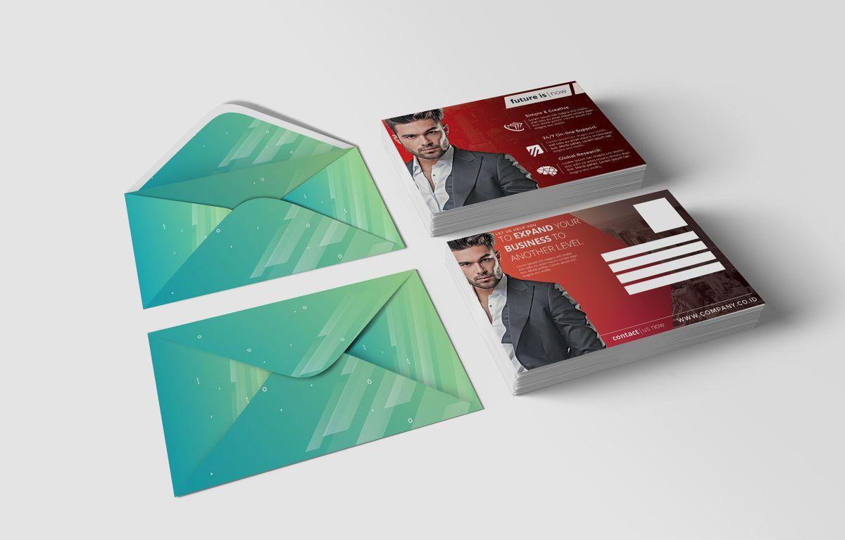 Company PostCard Template, Slide 2, 08738, Business — PoweredTemplate.com