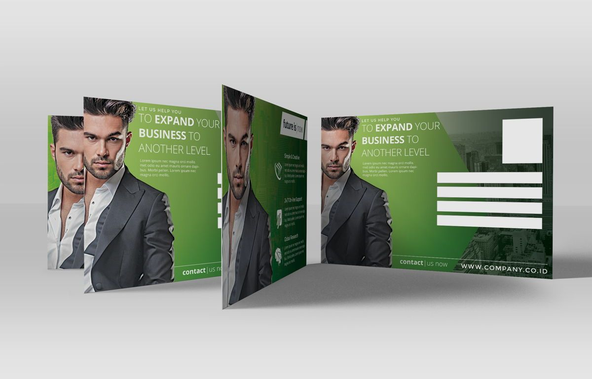 Company PostCard Template, Slide 3, 08738, Business — PoweredTemplate.com