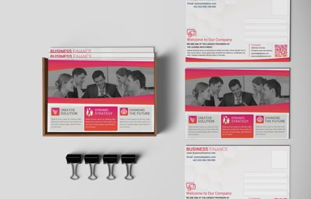 Business: Company PostCard Template #08739