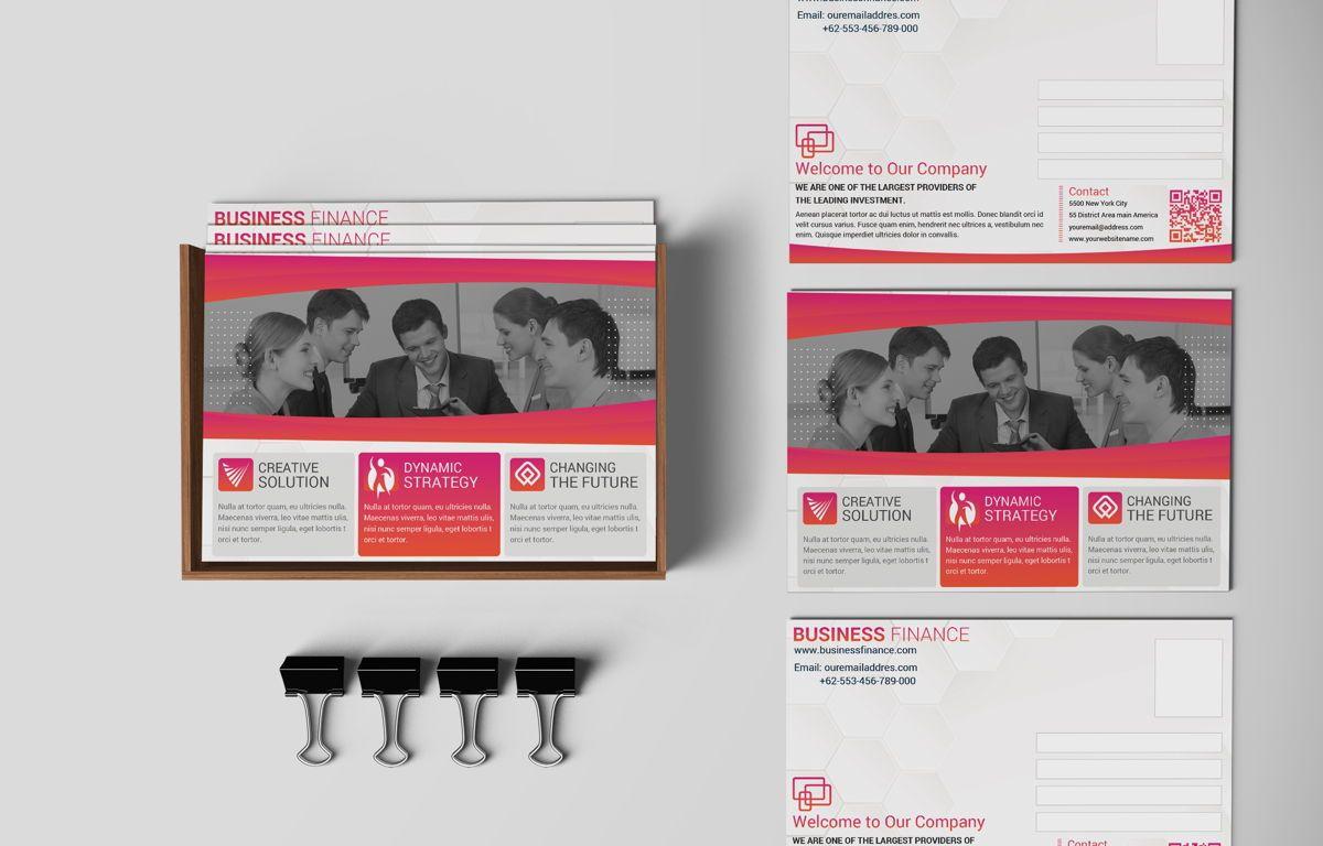 Company PostCard Template, 08739, Business — PoweredTemplate.com