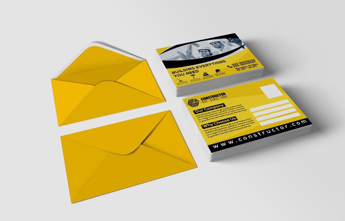 Construction Company PostCard, Slide 2, 08741, Construction — PoweredTemplate.com