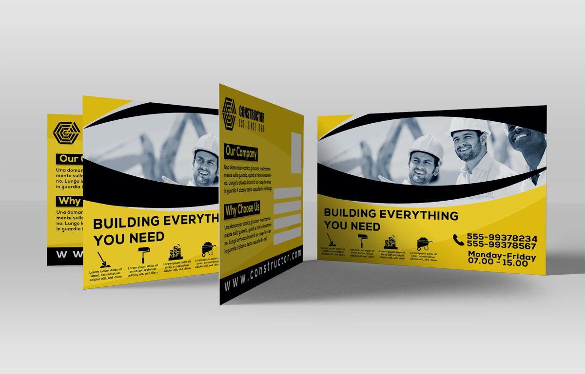 Construction Company PostCard, Slide 3, 08741, Construction — PoweredTemplate.com