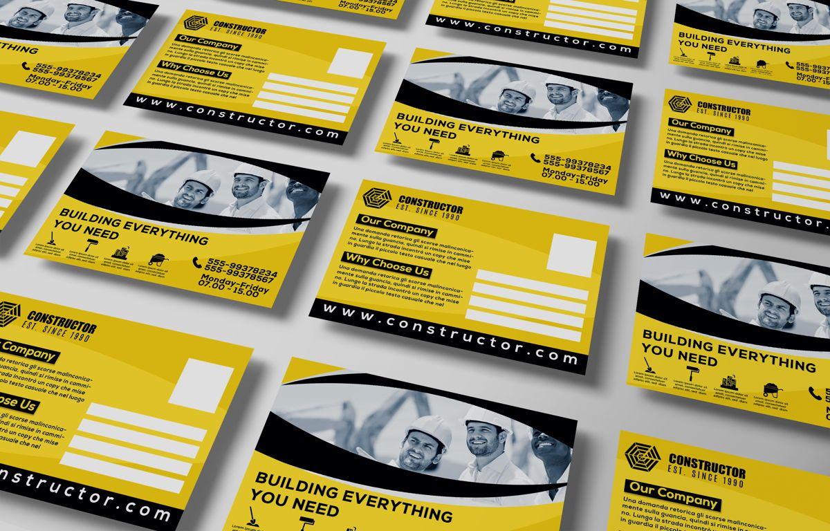 Construction Company PostCard, Slide 4, 08741, Construction — PoweredTemplate.com