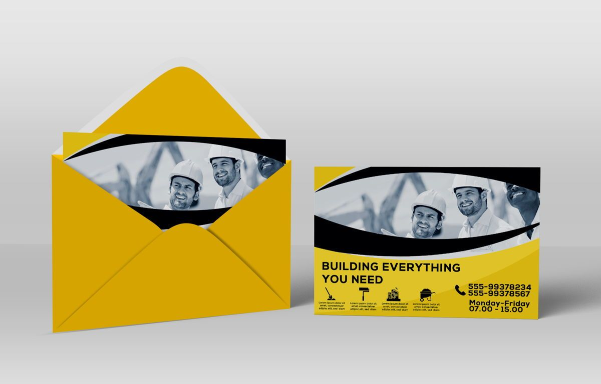 Construction Company PostCard, Slide 5, 08741, Construction — PoweredTemplate.com